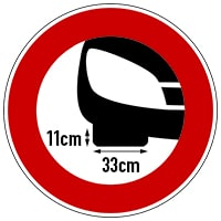 Unterflurhöhe 11 cm; Reifenbreite bis 330 mm
